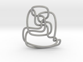 Thistlethwaite unknot (Circle) in Aluminum: Extra Small