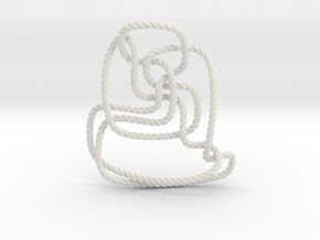 Thistlethwaite unknot (Rope) in White Natural Versatile Plastic: Extra Small