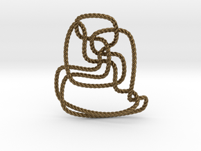Thistlethwaite unknot (Rope) in Natural Bronze: Extra Small