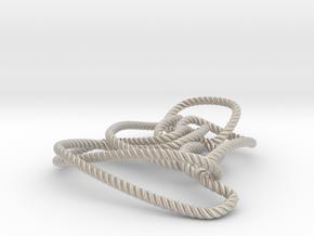 Thistlethwaite unknot (Rope with detail) in Platinum: Medium