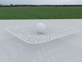 Curved Space - Time in White Natural Versatile Plastic
