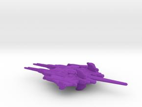 CR Primus Battlecruiser Full Thrust Scale WSF in Purple Processed Versatile Plastic