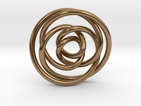 Rose knot 2/5 (Circle) in Natural Brass: Extra Small