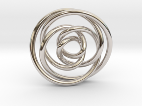 Rose knot 2/5 (Circle) in Platinum: Extra Small