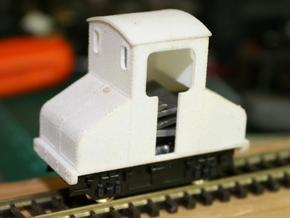 OO9 Steeplecab Electric Loco  in White Natural Versatile Plastic