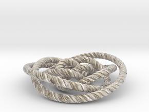 Rose knot 2/5 (Rope with detail) in Platinum: Medium