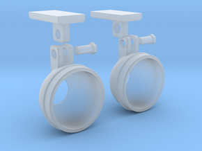 1.6 BELL STEP LIGHTS X2 in Smooth Fine Detail Plastic
