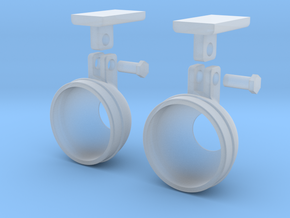 1.7 BELL STEP LIGHTS X2 in Smooth Fine Detail Plastic