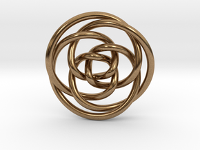Rose knot 3/5 (Circle) in Natural Brass: Extra Small