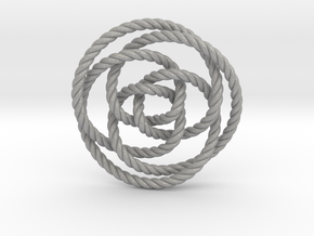 Rose knot 3/5 (Rope) in Aluminum: Extra Small