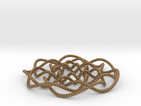 Rose knot 7/5 (Rope) in Natural Brass: Small