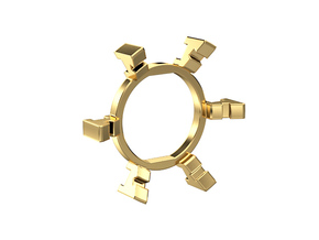 "HILT GX12/MT30 Connector Holder 7/8"" Gate Ring in Natural Brass"