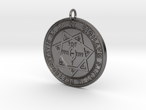 Seal of Babalon Pendant in Polished Nickel Steel