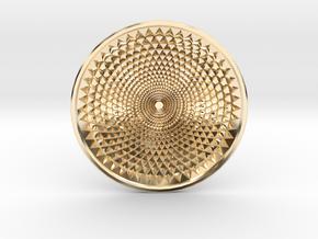Sunflower Drop - 6cm in 14k Gold Plated Brass