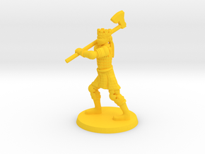 Her Royal Highness in Yellow Processed Versatile Plastic