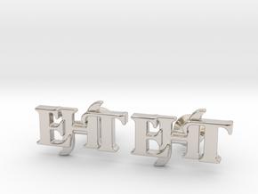 Monogram Cufflinks EHT in Platinum