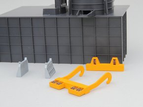 N-scale assessories for 250 ton Teeming Ladle in Smooth Fine Detail Plastic
