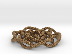 Rose knot 6/5 (Rope with detail) in Natural Brass: Medium