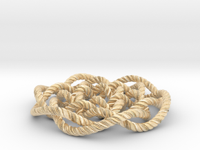Rose knot 6/5 (Rope with detail) in 14K Yellow Gold: Medium