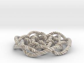Rose knot 6/5 (Rope with detail) in Platinum: Medium