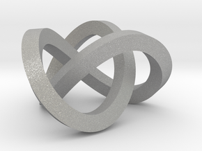 Trefoil knot (Square) in Aluminum: Extra Small