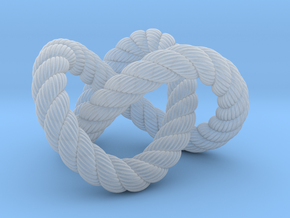 Trefoil knot (Rope with detail) in Smooth Fine Detail Plastic: Extra Small
