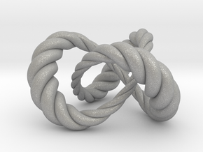 Varying thickness trefoil knot (Rope) in Aluminum: Medium