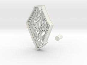 Skyrim Logo from Elder Scrolls Series Cookie Cutte in White Natural Versatile Plastic