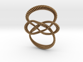 Carrick mat (Rope) in Raw Brass: Small