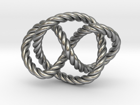 Whitehead link (Rope) in Natural Silver (Interlocking Parts): Extra Small
