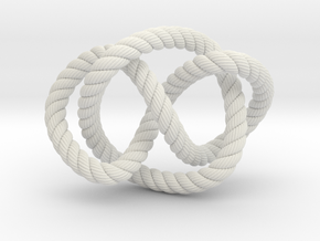 Whitehead link (Rope with detail) in White Natural Versatile Plastic: Extra Small