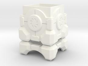 Portal Storage Cube Ring Box in White Processed Versatile Plastic: Medium
