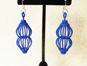 Ruth - Earrings in Plastic in Blue Strong & Flexible Polished