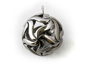 Sferatella pendant in Polished Silver