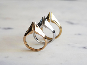 Torc Ring in Polished Bronze: 6 / 51.5