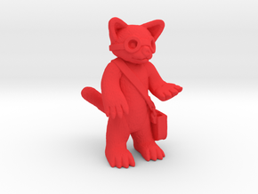 Red Panda Explorer in Red Processed Versatile Plastic
