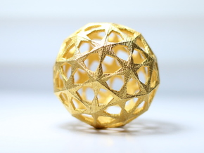 Star Sphere in Matte Gold Steel