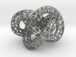 Webbed Knot with Intergrated Spheres in Natural Silver (Interlocking Parts)