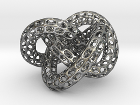 Webbed Knot with Intergrated Spheres in Polished Silver (Interlocking Parts)