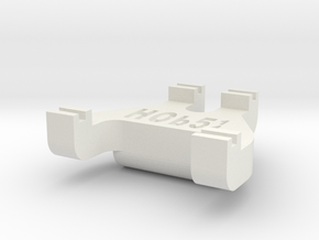 HOb5¼ Track Gauge - Code 100 in White Natural Versatile Plastic