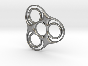 Trefoil Circle Spinner in Natural Silver