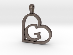 Alpha Heart 'G' Series 1 in Polished Bronzed Silver Steel