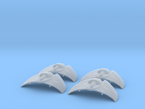 Goa'uld Death Glider Fighter Squadron Pack FUD in Frosted Ultra Detail