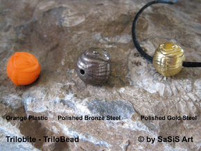 Trilo Bead Trilobite  in Orange Processed Versatile Plastic