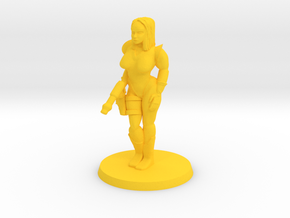 Katrina Space Explorer (thick) in Yellow Processed Versatile Plastic