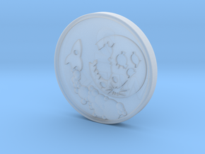 To the Moon Crypto Predictor Coin in Smooth Fine Detail Plastic