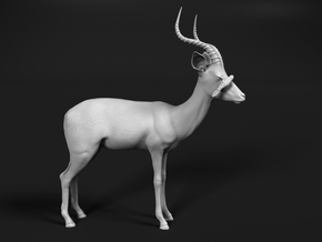 Impala 1:12 Male with Red-Billed Oxpecker in White Natural Versatile Plastic