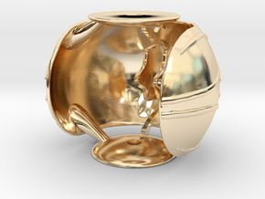 Golden Snitch Ring Box (Back) in 14K Yellow Gold