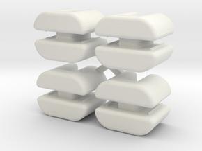 Vanagon T3 regulator Up and down sliders (set) in White Natural Versatile Plastic