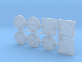 1:16 scale Manhole covers in Smooth Fine Detail Plastic